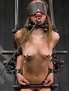 Captured and fucked in extreme bondage positions