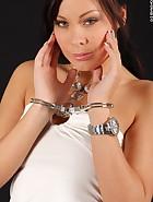 Alyssia in handcuffs