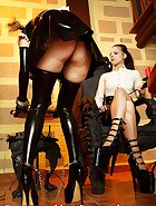 Maid in handcuffs