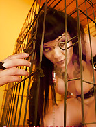 Jill in a cage