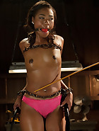 Ebony Slut is Tormented and Machine Fucked