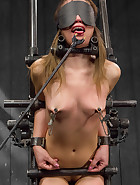 Captured and fucked in extreme bondage positions, pic 7