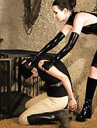 Cuffed slave walking, pic 13