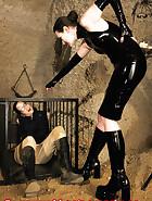 Cuffed slave walking, pic 14
