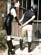 Cuffed slave walking, pic 10