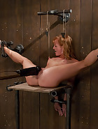 Redhead helpless and loving it, pic 13