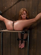 Redhead helpless and loving it, pic 4