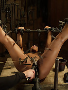 Ebony Slut is Tormented and Machine Fucked, pic 9