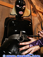 Stabled rubber pony girl, pic 14