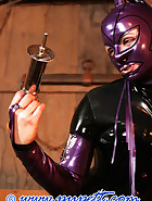 Stabled rubber pony girl, pt.2, pic 12