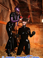Stabled rubber pony girl, pt.2, pic 7
