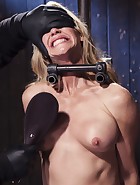 MILF gets tormented and machine fucked, pic 12