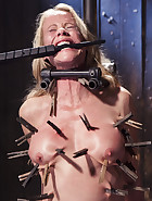 MILF gets tormented and machine fucked, pic 2