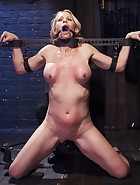 MILF gets tormented and machine fucked, pic 9