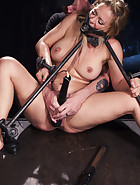 Hot Blonde in Brutal Device Bondage, pic 10